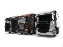 Metallic transport trucks Royalty Free Stock Photo