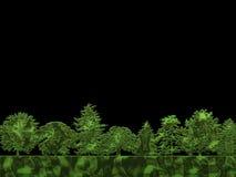 Metallic trees. Illustration of metallic trees Royalty Free Stock Photos