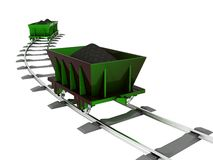 Metallic Trolley with Coal Royalty Free Stock Photography
