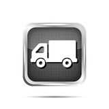 Metallic truck icon button Stock Photos
