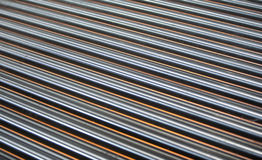 Metallic tubing Royalty Free Stock Photography