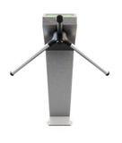 Metallic turnstile. Front view. 3d render. Stock Photo
