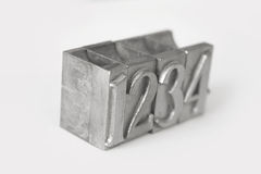 Metallic typographic numbers Royalty Free Stock Image