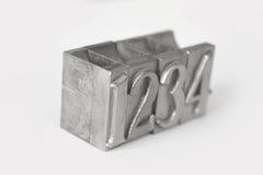 Metallic typographic numbers Royalty Free Stock Image