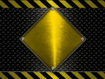 Metallic Under Construction Banner Stock Photography