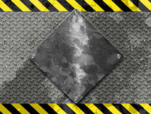Metallic Under Construction Board Stock Photography