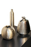 Metallic vases Stock Images
