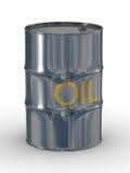 Metallic vat on a white background. Royalty Free Stock Photo
