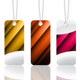 Metallic vector label illustration Stock Photos