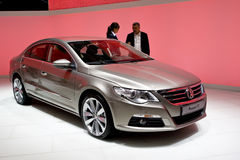 Metallic Volkswagen Passat cc Stock Photos
