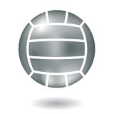 Metallic volleyball Royalty Free Stock Photo