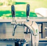 Metallic water dispenser Stock Photo