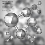 Metallic Water molecule Royalty Free Stock Image