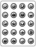 Metallic Web Buttons Royalty Free Stock Image