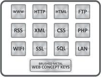 Metallic Web Concept Buttons Vector Stock Image