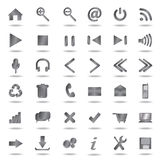 Metallic web icons set. Collection of high quality metallic web, website icons Royalty Free Stock Images