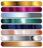 Metallic Web Ribbons  Stock Images