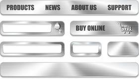Metallic website design elements Royalty Free Stock Photo