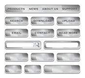 Metallic website design elements Royalty Free Stock Photo