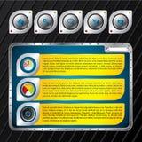 Metallic website template design Stock Photos