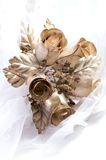 Metallic wedding bouquet Stock Photos