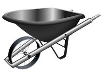 Metallic wheel barrow Stock Images