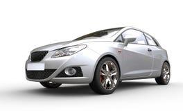 Metallic White Car Royalty Free Stock Photography