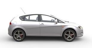 Metallic White Car Royalty Free Stock Photos