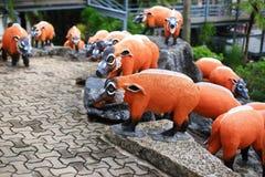 Metallic wild pig statue Stock Image