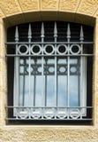 Metallic window guard Stock Photo