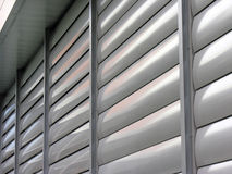 Metallic window shutter at the office building stock photo