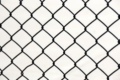 Metallic Wire Chain Link Fence Stock Images