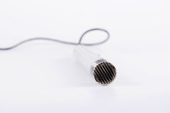 Metallic Wire Microphone Stock Image