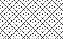 Metallic wired fence pattern on white background Royalty Free Stock Photography