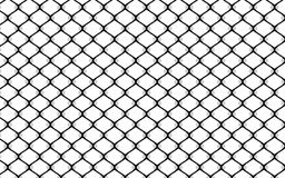 Metallic wired fence pattern on white background Stock Photos