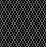 Metallic wired Fence seamless pattern isolated on black background. Steel Wire Mesh. Vector Illustration Royalty Free Stock Photos