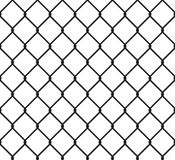 Metallic wired fence seamless pattern Stock Photography