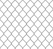 Metallic wired fence seamless pattern Royalty Free Stock Photo