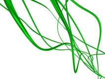 Metallic wires. Green metallic wires isolated with white background Stock Photography