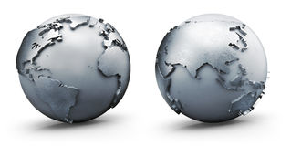 Metallic world Stock Images