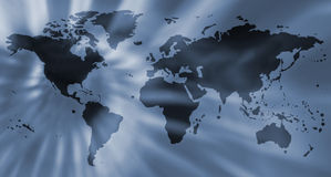 Metallic world map Royalty Free Stock Photography