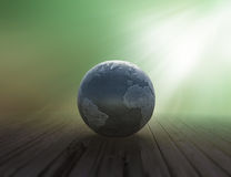 Metallic world map globe Stock Photo