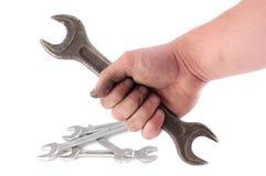 A metallic wrench Stock Photo