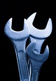 Metallic wrenches Royalty Free Stock Images