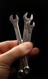 Metallic wrenches Stock Photography