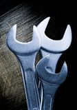 Metallic wrenches Stock Photos