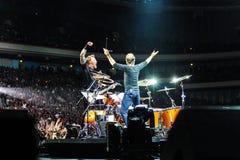 Metallica concert stock image
