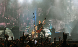 Metallica durante il giro Fotografia Stock Libera da Diritti