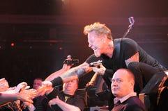 Metallica na excursão fotos de stock