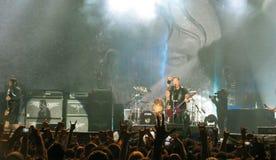 Metallica op Reis Stock Foto